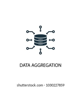 Data Aggregation icon. Simple element illustration. Data Aggregation symbol design from Big data, database collection. Can be used for web and mobile.