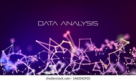 Data analysis. Futuristic- digital technology concept.Big data innovation technology. Stock analyzing. Cloud technology. Finance statistics graph.