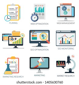 Data analysis with Planing, web optimization, web Management, SEO Optimization, SEO Monitoring and Marketing Research