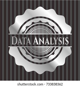 Data Analysis silvery shiny emblem