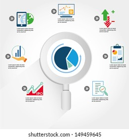 data analytic, business data analysis info graphic, icons