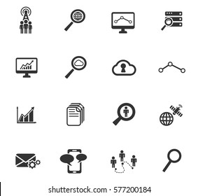 data analytic vector icons for user interface design
