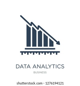 data analytics descendant graphic icon vector on white background, data analytics descendant graphic trendy filled icons from Business collection, data analytics descendant graphic vector illustration