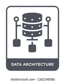data architecture icon vector on white background, data architecture trendy filled icons from Technology collection, data architecture simple element illustration
