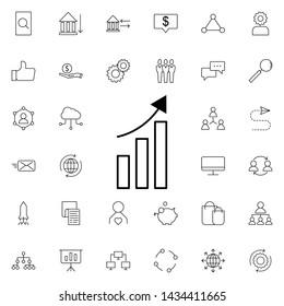 data up arrow icon. Universal set of business for website design and development, app development