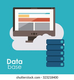 Data base concept and cloud computing design, vector illustration eps 10