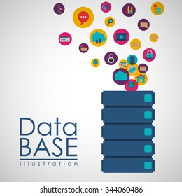 data base design, vector illustration eps10 graphic