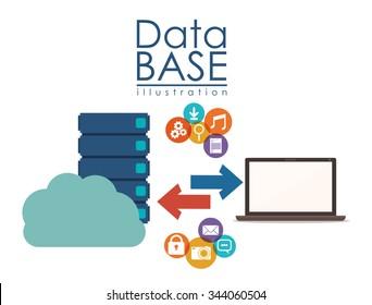 data base design, vector illustration eps10 graphic