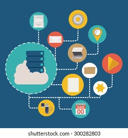 Data Base digital design, vector illustration eps 10
