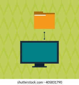 Data center and computer design , vector illustration