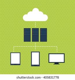 Data center design , vector illustration