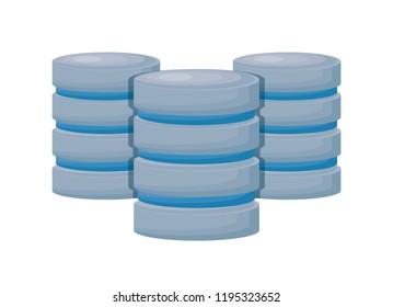 data center disks icons