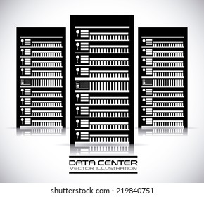 data center graphic design , vector illustration