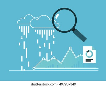 Data collection. Analytics report. Analytics metrics