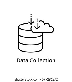 Data Collection Vector Line Icon