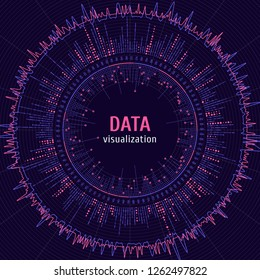 Data complexity representation. Big data concept visualization. Graphic abstract background. Eps10