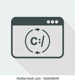 Data exchange network - Vector flat icon
