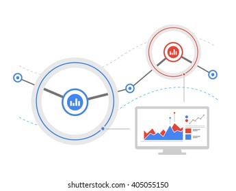Data flow analysis. Analytics dashboard