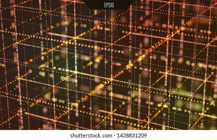 Data grid. Information technology. Cyber space background