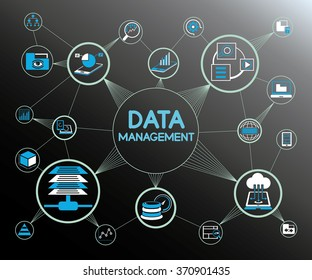 data management concept, information technology concept