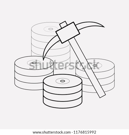 Data Mining Icon Line Element Vector Stock Vector Royalty Free