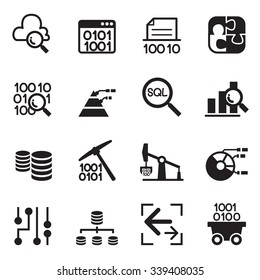 Data mining Technology , Data Transfer , Data warehouse analysis icon set 2
