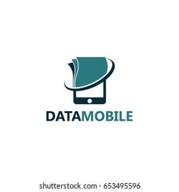 Data Mobile Logo Template Design
