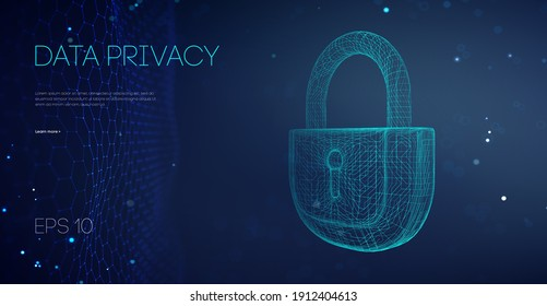 Data Privacy Government Software. Email Server hacker guard data. Security cloud data attack. Alarm locks server data. Asian it support vector illustration. Vector Illustration.