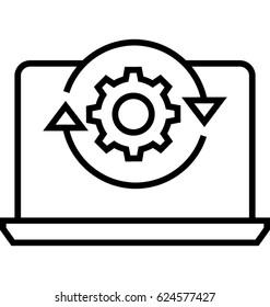 Data Processing Vector Icon