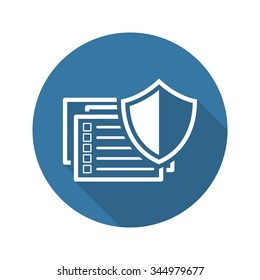 Data Protection Icon. Flat Design. Security Concept. Isolated Illustration.