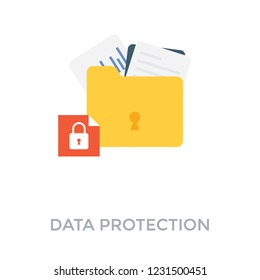 Data protection illustration design in a vector