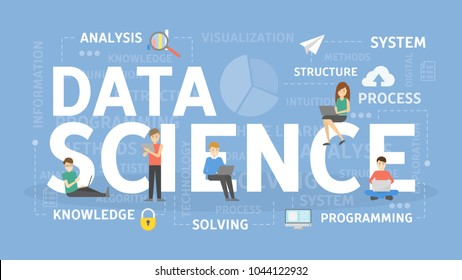 Data science concept illustration. Idea of big data.