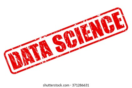 DATA SCIENCE red stamp text on white