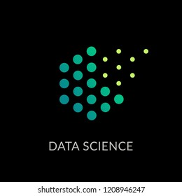 Data science technology abstract icon.