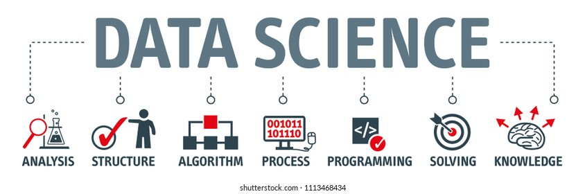 Data Science uses scientific methods, processes, algorithms and systems to extract knowledge and insights from data in various forms, both structured and unstructured. Vector Illustration concept
