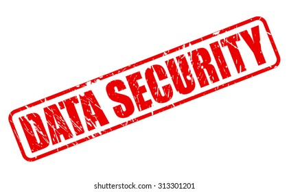 Data security red stamp text on white