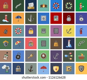 Data Security vector Icons. network, Firewall, Web Spider, Password and more protection Icons