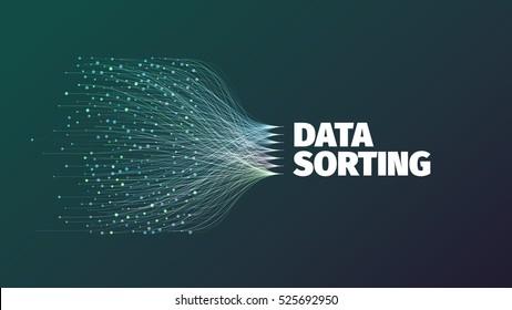 Data sorting abstract vector illustration