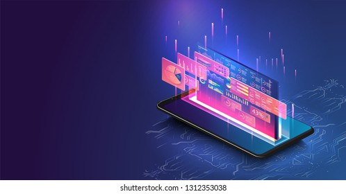 Hologram Phone Images, Stock Photos & Vectors | Shutterstock