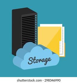 data storage center design, vector illustration eps10 graphic