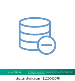 Data Storage Essential Icon Vector Logo Template