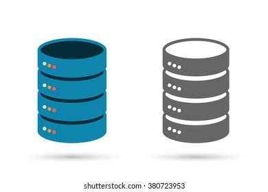 Data storage flat icon. Computer Server illustration