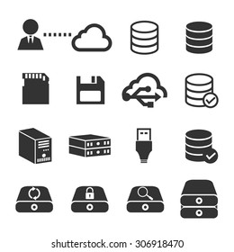 data storage icon set