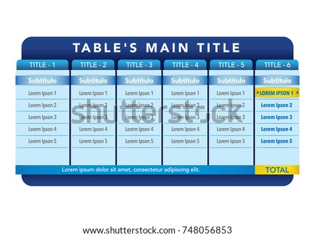 Data table template ideal presentations institutional stock vector data table template ideal for presentations and institutional materials maxwellsz