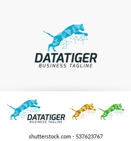 Data Tiger, digital, internet, cloud, technology, vector logo template