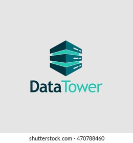 Data Tower Logo available in vector/illustration