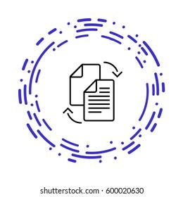 Data transfer between files full color