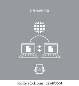 Data transfer on web - Flat minimal icon