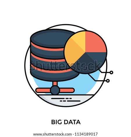 Data Warehouse Devices Pie Chart Making Stock Vector Royalty Free