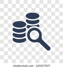 Database Analysing icon. Trendy Database Analysing logo concept on transparent background from Business and analytics collection